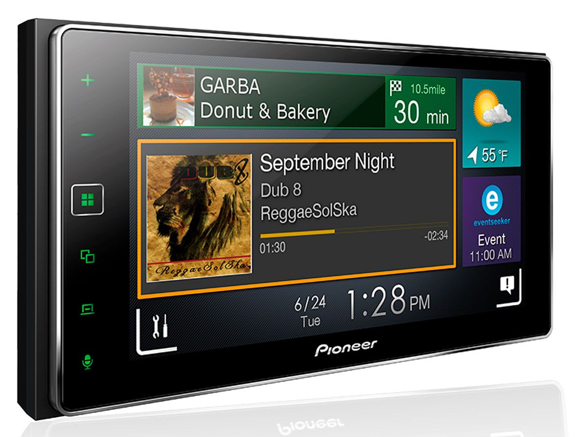 "Multimídia receiver Pioneer SPH-DA138TV 6,2"" TV Digital, Bluetooth, Apple CarPlay"