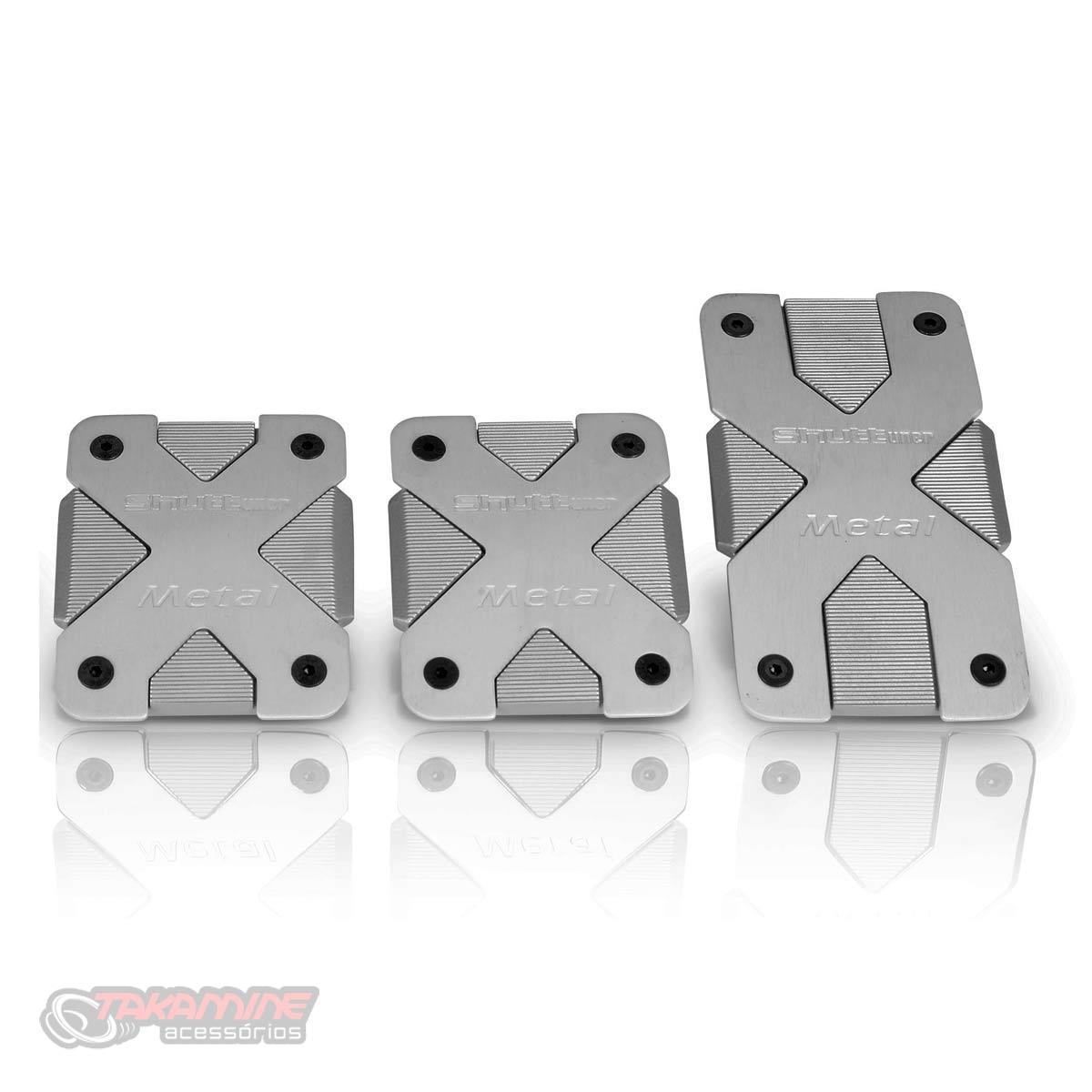 Pedaleira esportiva Shutt Metal X com estojo metálico