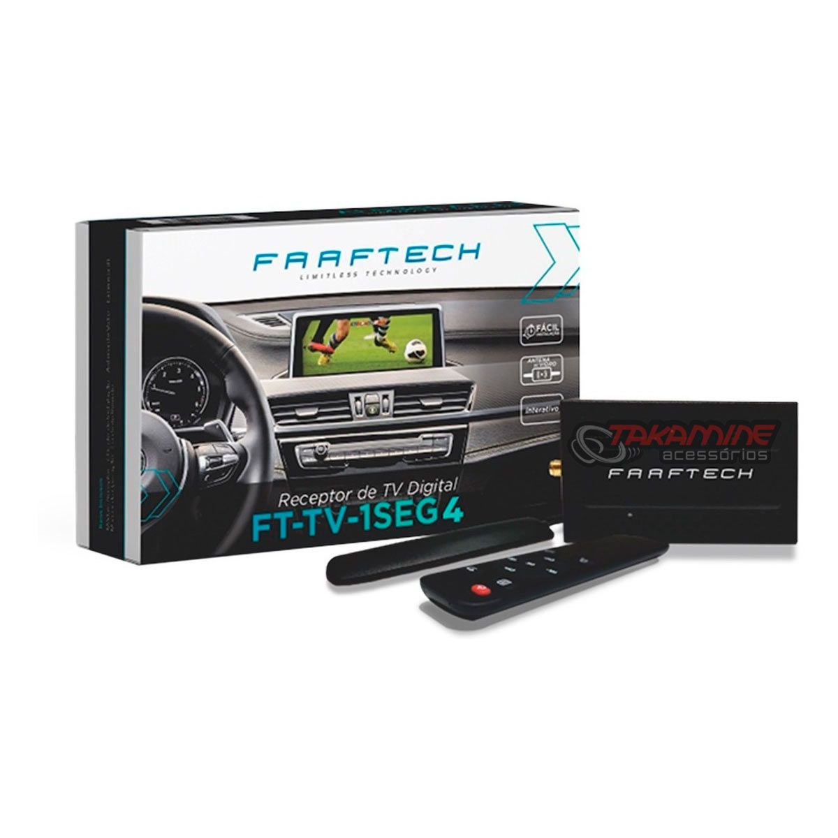 Receptor de TV Digital Faaftech 1 Seg FT-TV-1SEG4