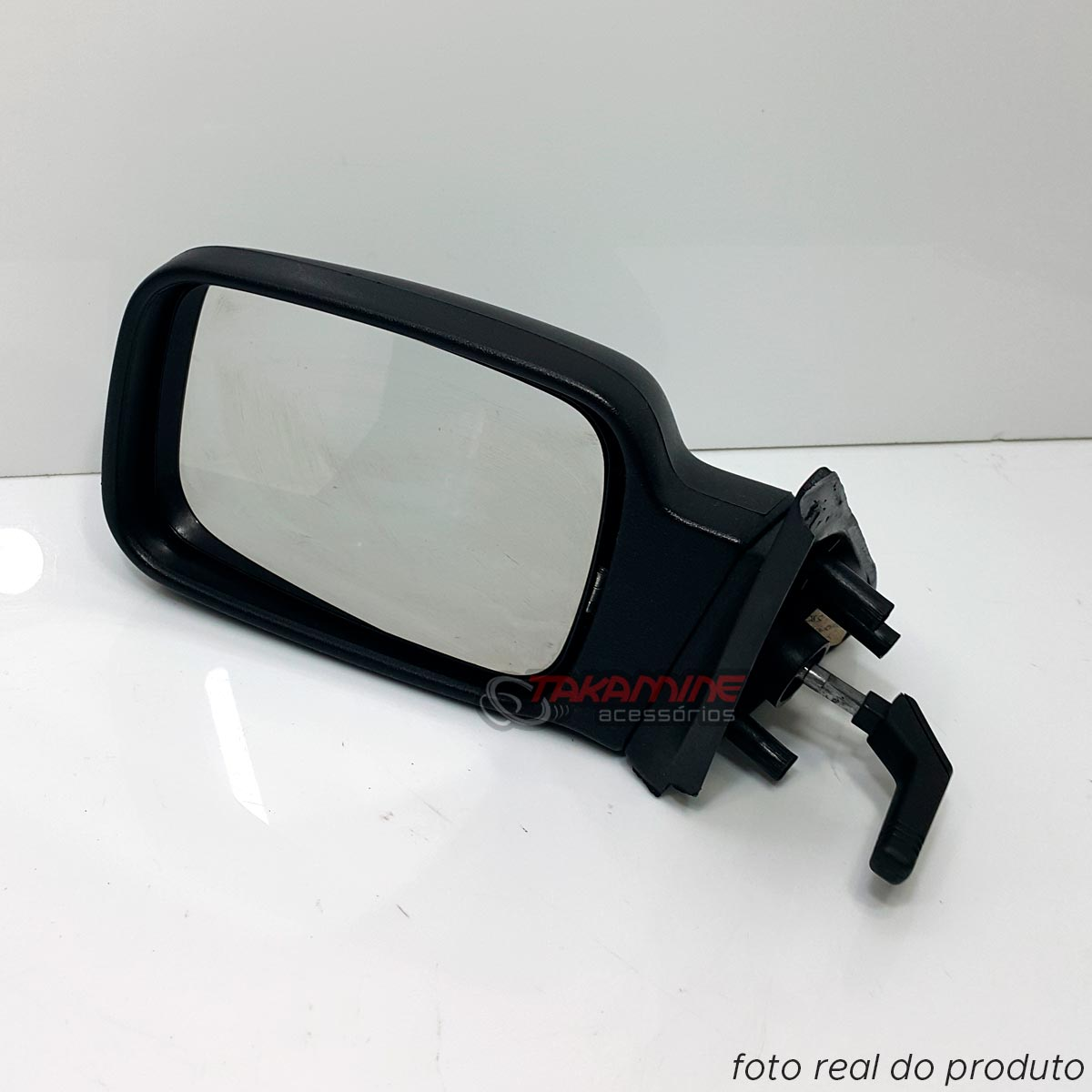 Retrovisor Escort 1987 1988 1989 1990 1991 1992 Apollo 1990 1991 1992 original com controle manual lado esquerdo