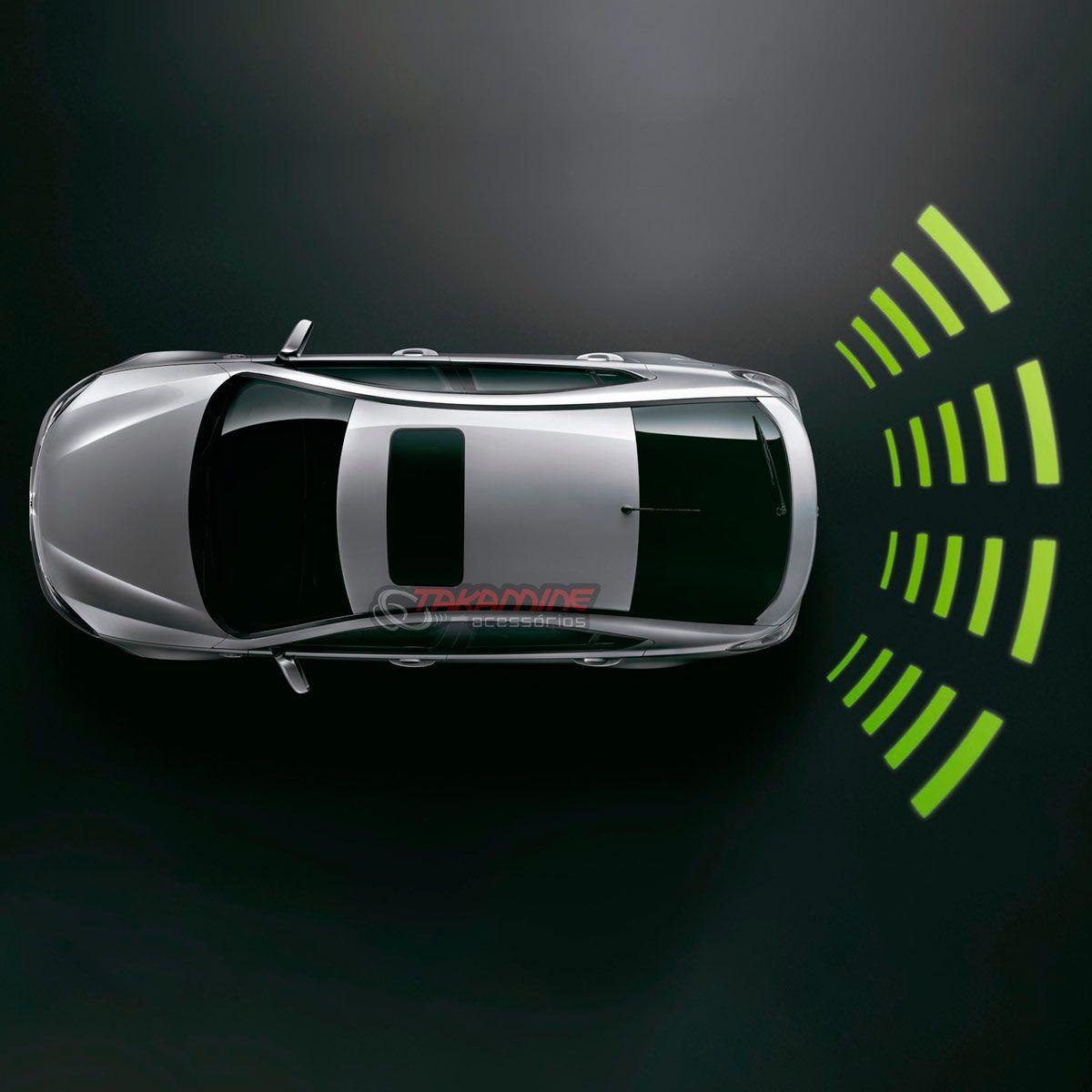 Sensor de estacionamento Orbe 4 pontos display de teto prata