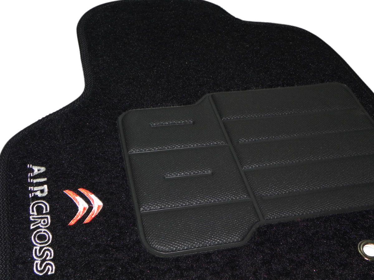 Tapete Carpete Citroen Aircross 2011 2012 2013 2014 Personalizado com bordado nos dois tapetes dianteiros (5 peças)