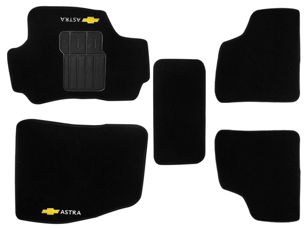 Jogo tapete carpete Astra 2003 até 2012 com bordado (5 peças)
