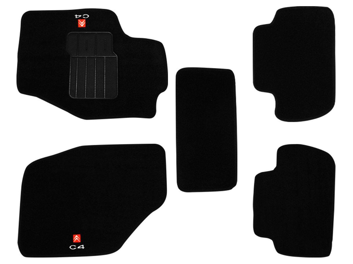 Tapete Carpete Citroen C4 2009 em diante Personalizado com bordado nos dois tapetes dianteiros (5 peças)