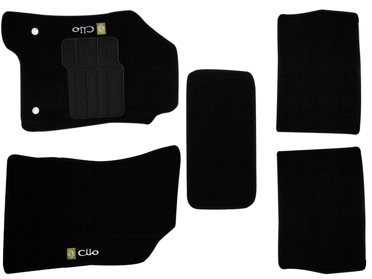 Tapete Carpete Renault  Clio 2012 2013 2014 2015 Personalizado com bordado nos dois tapetes dianteiros (5 peças)