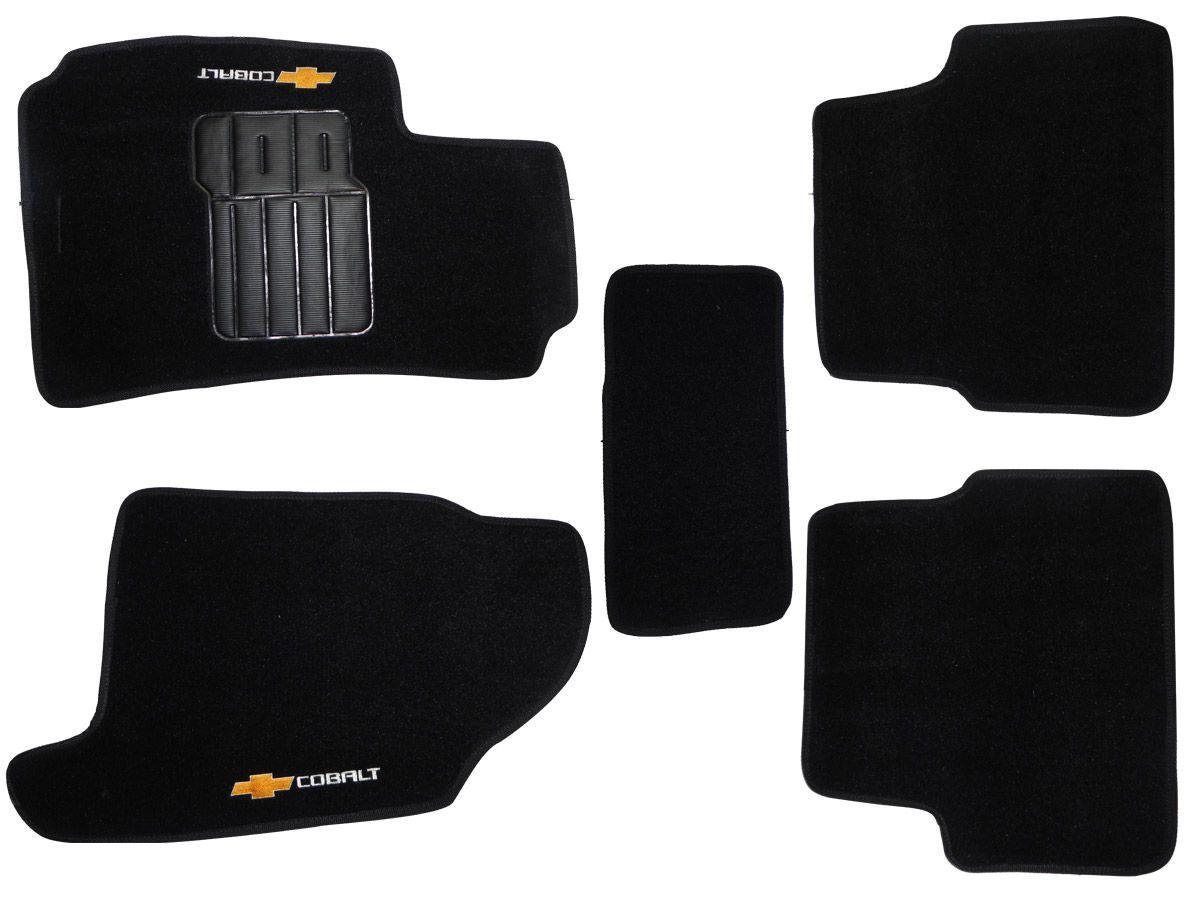 Tapete Carpete GM Cobalt 2012 2013 2014 Personalizado com bordado nos dois tapetes dianteiros (5 peças)