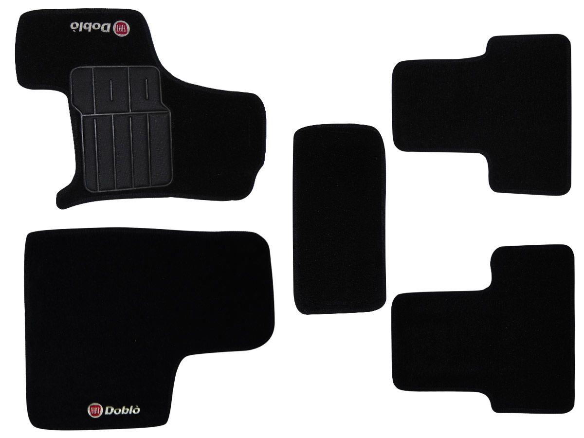 Tapete Carpete Fiat Doblo Adventure todos os modelos Personalizado com bordado nos dois tapetes dianteiros (5 peças)
