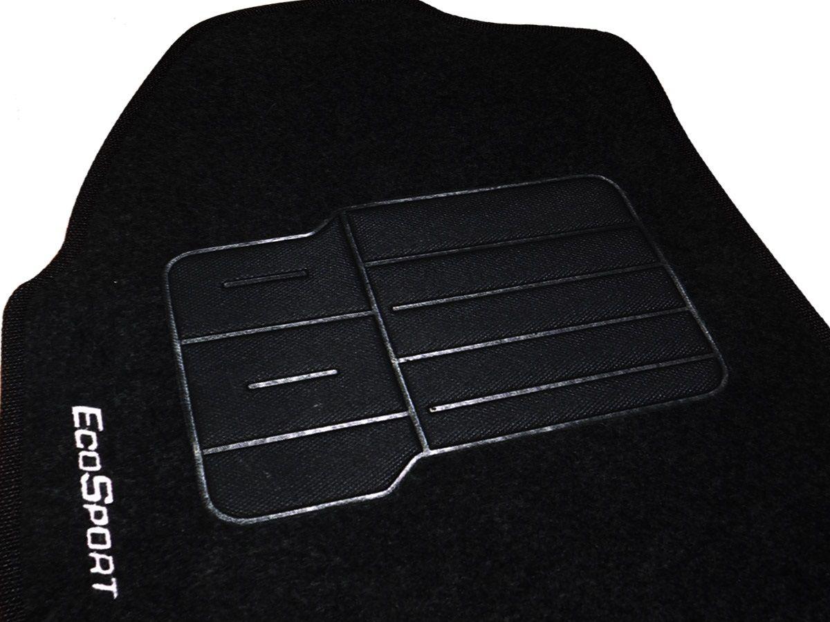 Jogo tapete carpete Ecosport 2003 até 2012 com bordado (5 peças) e base pinada