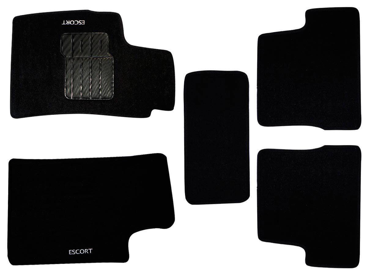 Jogo tapete carpete Escort 1997 1998 1999 2000 2001 2002 com bordado (5 peças) e base pinada