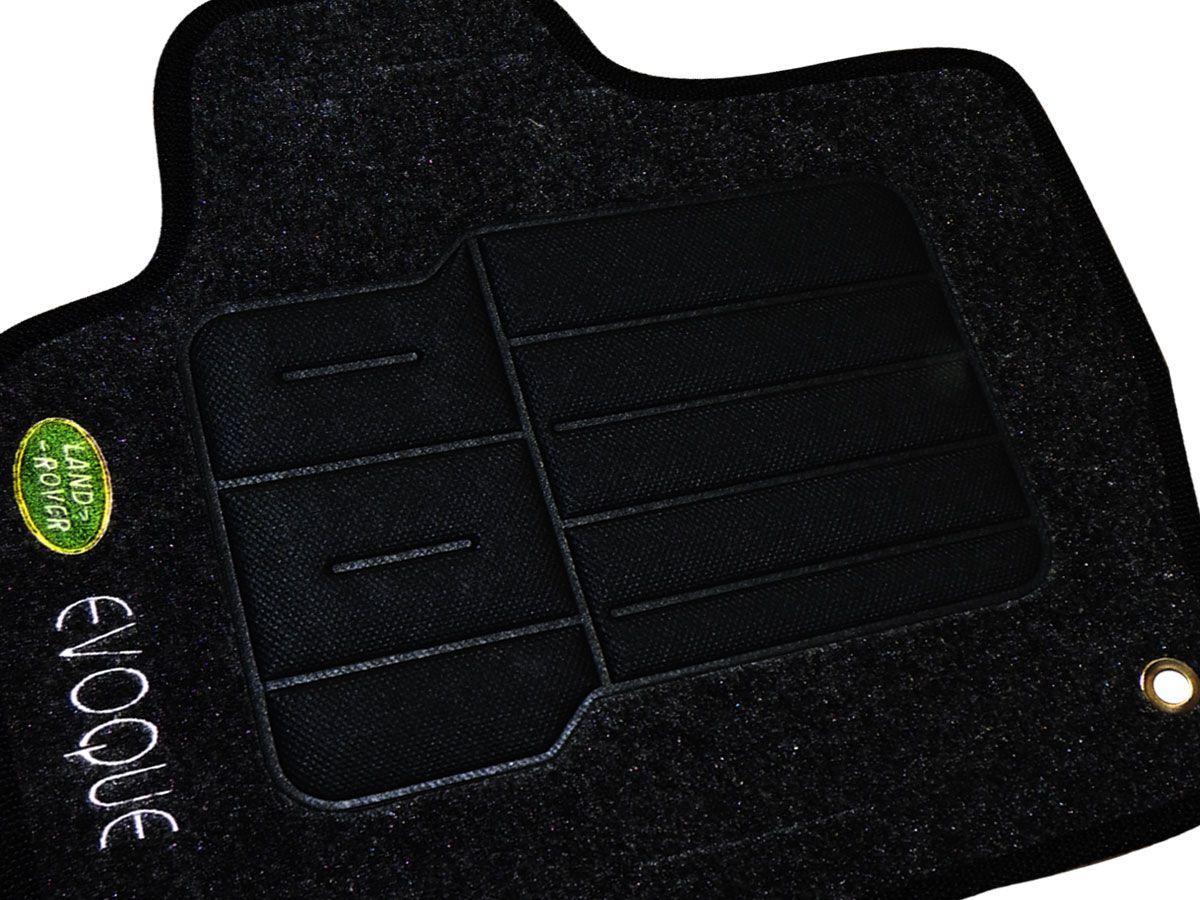 Tapete Carpete Land Rover Evoque 2013 em diante Personalizado com bordado nos dois tapetes dianteiros  (5 peças)