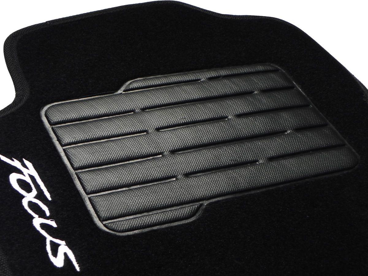Tapete Carpete Ford Focus 2013 2014 Personalizado com bordado nos dois tapetes dianteiros (5 peças)