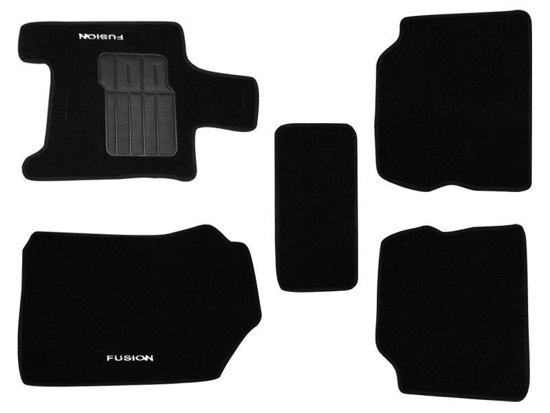 Tapete Carpete Ford Fusion 2010 2011 2012 Personalizado com bordado nos dois tapetes dianteiros (5 peças)