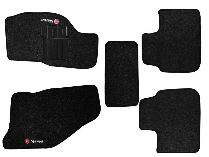 Tapete Carpete Fiat Marea todos os modelos Personalizado com bordado nos dois tapetes dianteiros (5 peças)