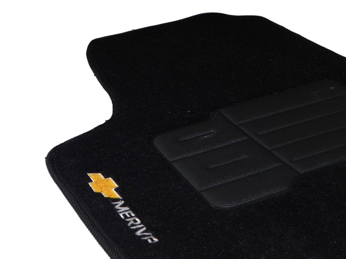 Jogo tapete carpete Meriva 2002 até 2012 com bordado (5 peças) e base pinada