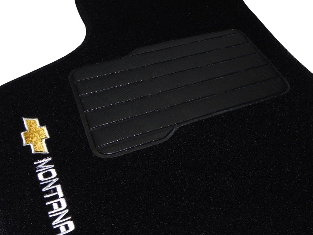 Tapete Carpete GM  Montana 2003 até 2010 Personalizado com bordado nos dois tapetes dianteiros (2 peças)