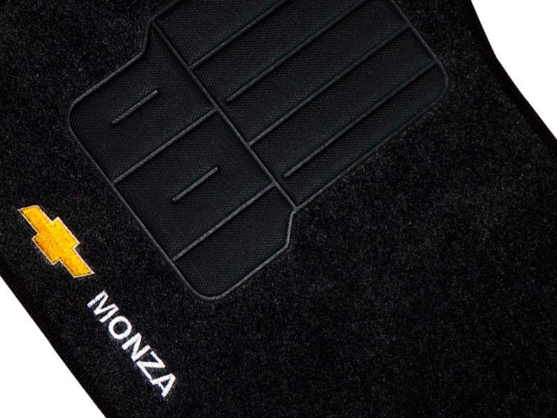 Jogo tapete carpete Monza 1982 até 1996 com bordado (5 peças) e base pinada