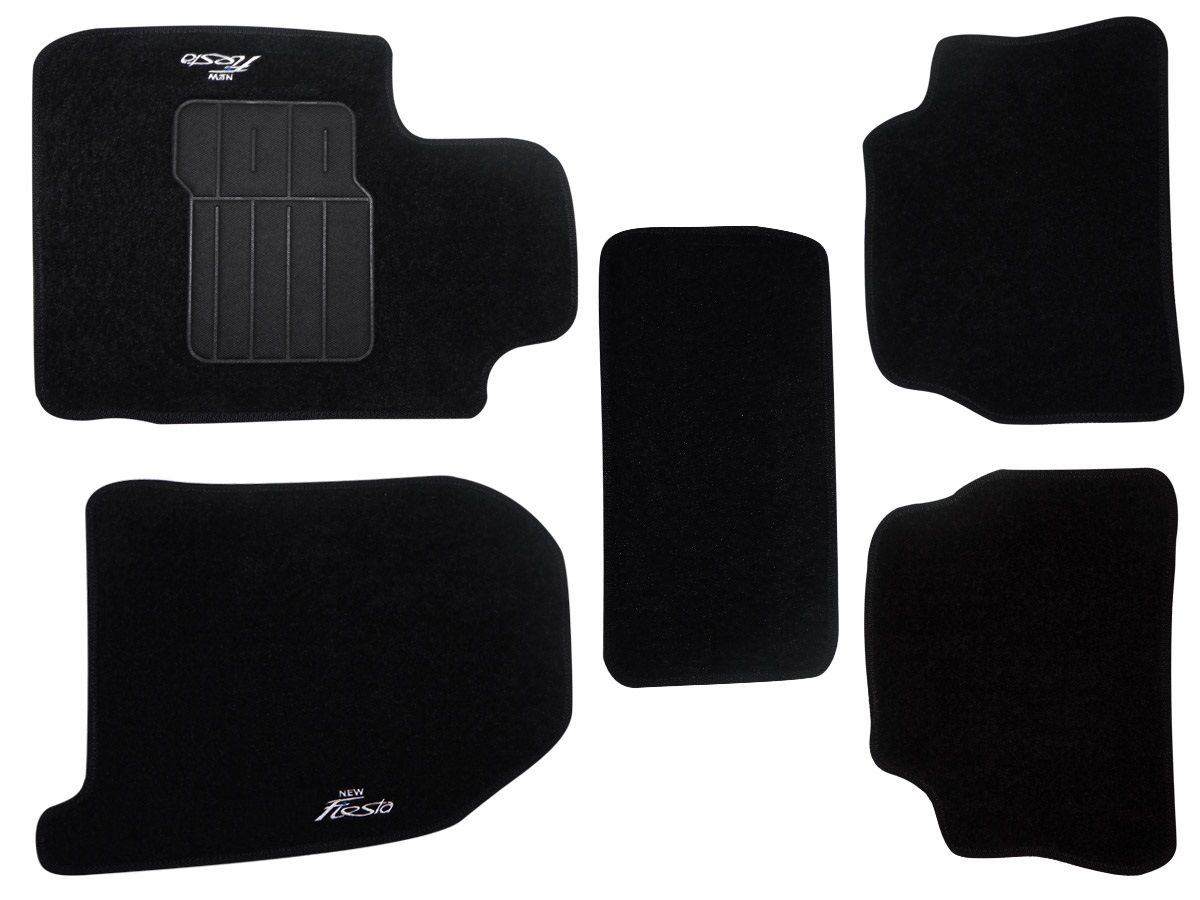 Tapete Carpete Ford New Fiesta 2011 2012 2013 Personalizado com bordado nos dois tapetes dianteiros (5 peças)