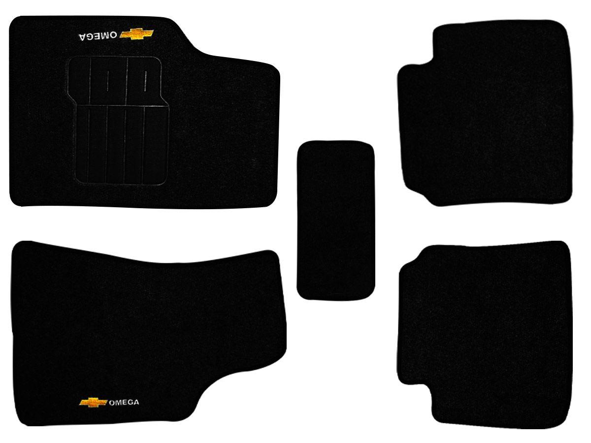 Tapete Carpete GM Omega 2009 2010 2011 Personalizado com bordado nos dois tapetes dianteiros (5 peças)