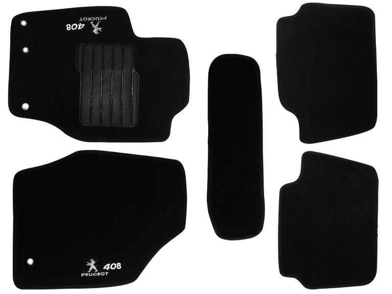 Tapete Carpete Peugeot 408  2011 2012 2013 2014 2015 Personalizado com bordado nos dois tapetes dianteiros (5 peças)