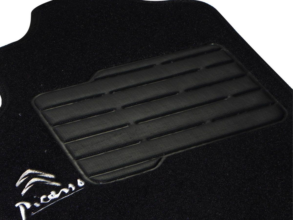 Tapete Carpete Citroen Picasso 2000 até 2010 Personalizado com bordado nos dois tapetes dianteiros (3 peças)
