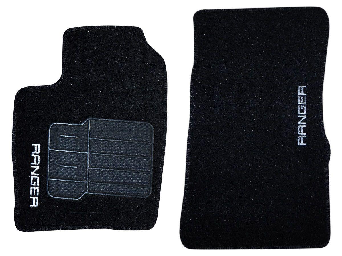 Tapete Carpete Ford Ranger Cabine Simples 1996 até 2011 Personalizado (2 peças)