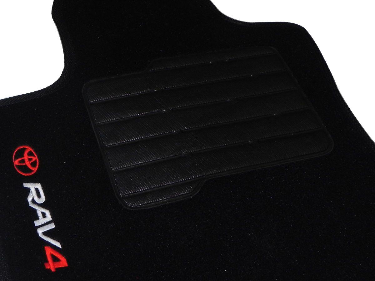 Tapete Carpete Toyota RAV4 2006 em diante Personalizado com bordado nos dois tapetes dianteiros (5 peças)
