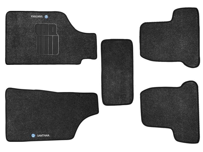 Tapete Carpete VW Santana 1997 1998 1999 2000 2001 2002 2003 2004 2005 2006 Personalizado com bordado nos dois tapetes dianteiros (5 peças)