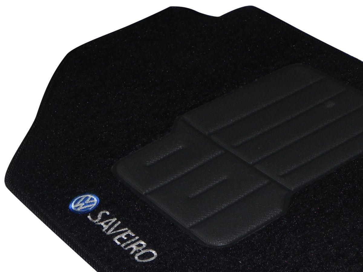 Tapete Carpete VW  Saveiro G5 2010 2011 2012 2013 2014 Personalizado com bordado nos dois tapetes dianteiros (5 peças)