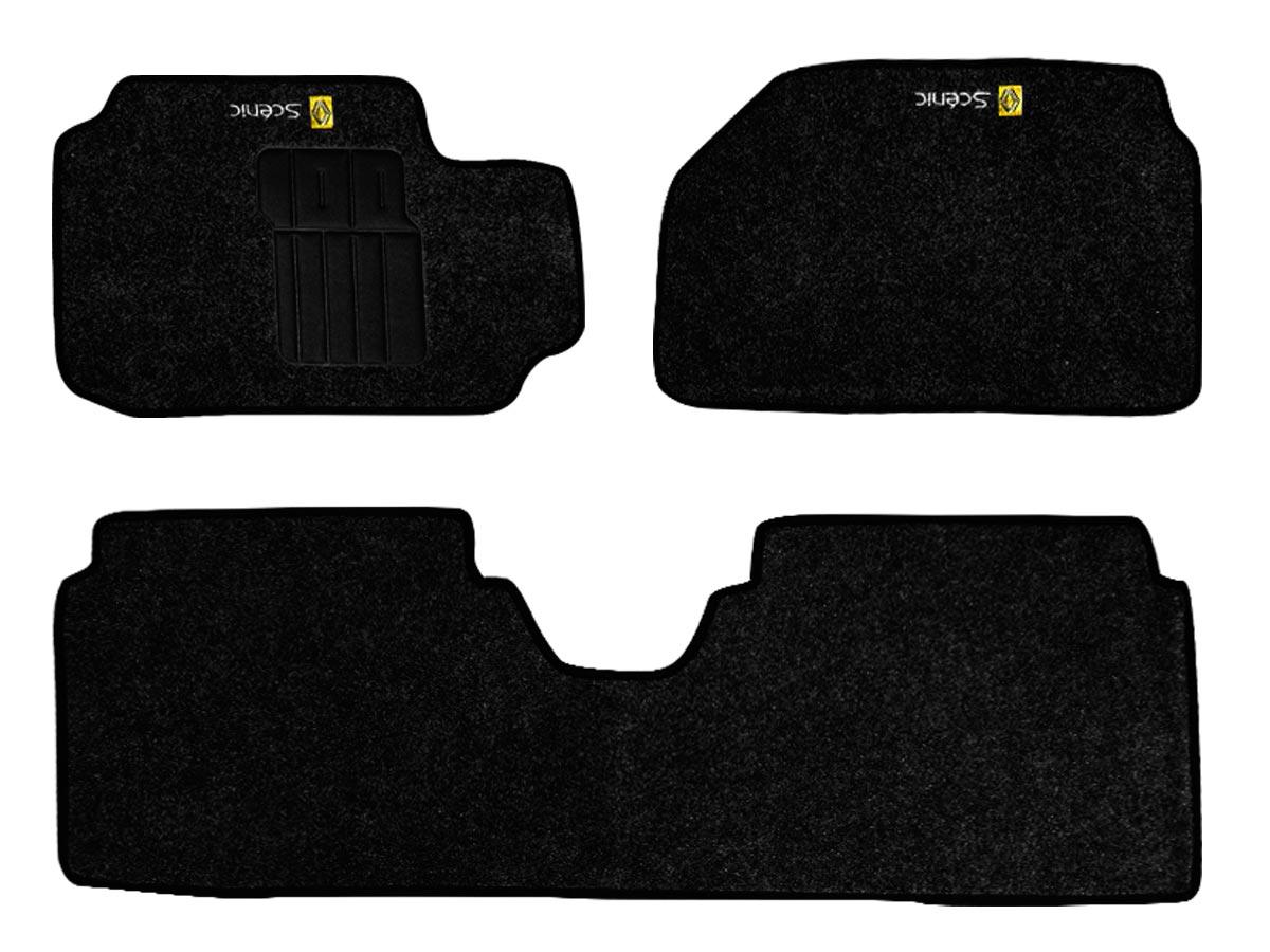 Tapete Carpete Renault Scenic todos os modelos Personalizado com bordado nos dois tapetes dianteiros (3 peças)