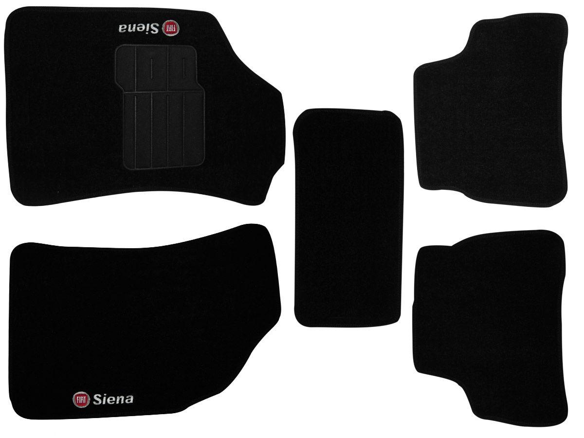 Tapete Carpete Fiat Siena 2008 2009 2010 2011  Personalizado com bordado nos dois tapetes dianteiros (5 peças)