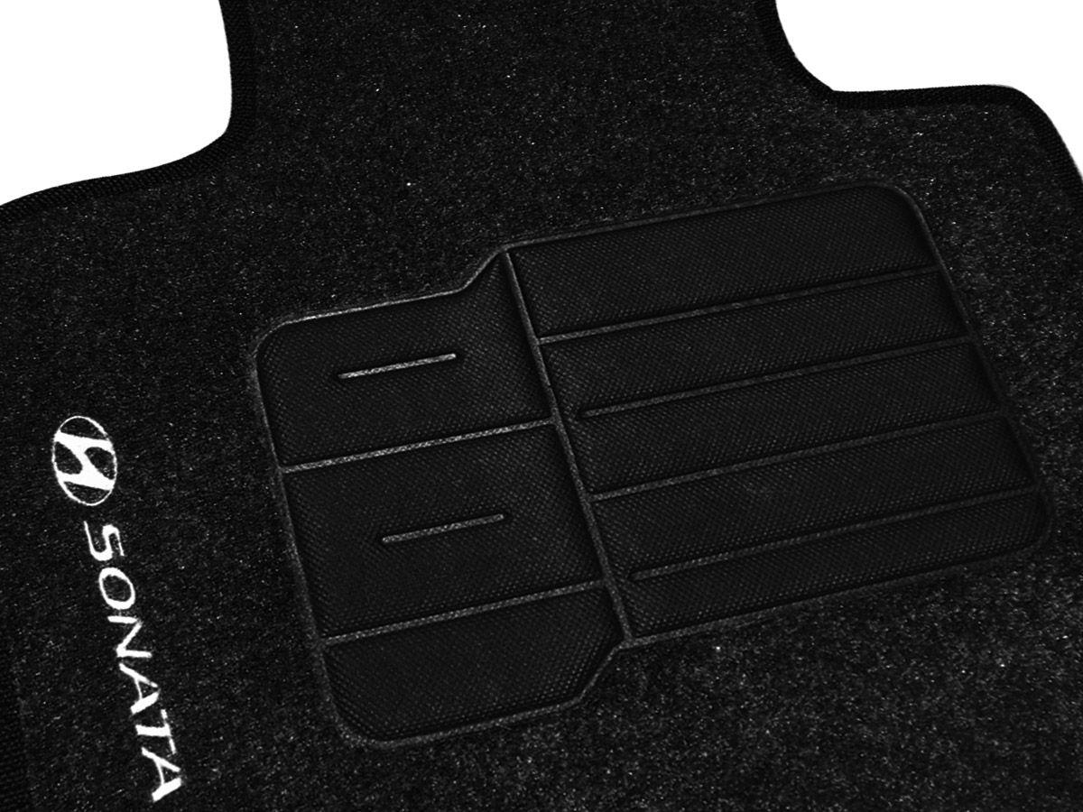 Jogo tapete carpete Sonata 2011 2012 2013 2014 com bordado (5 peças) e base pinada