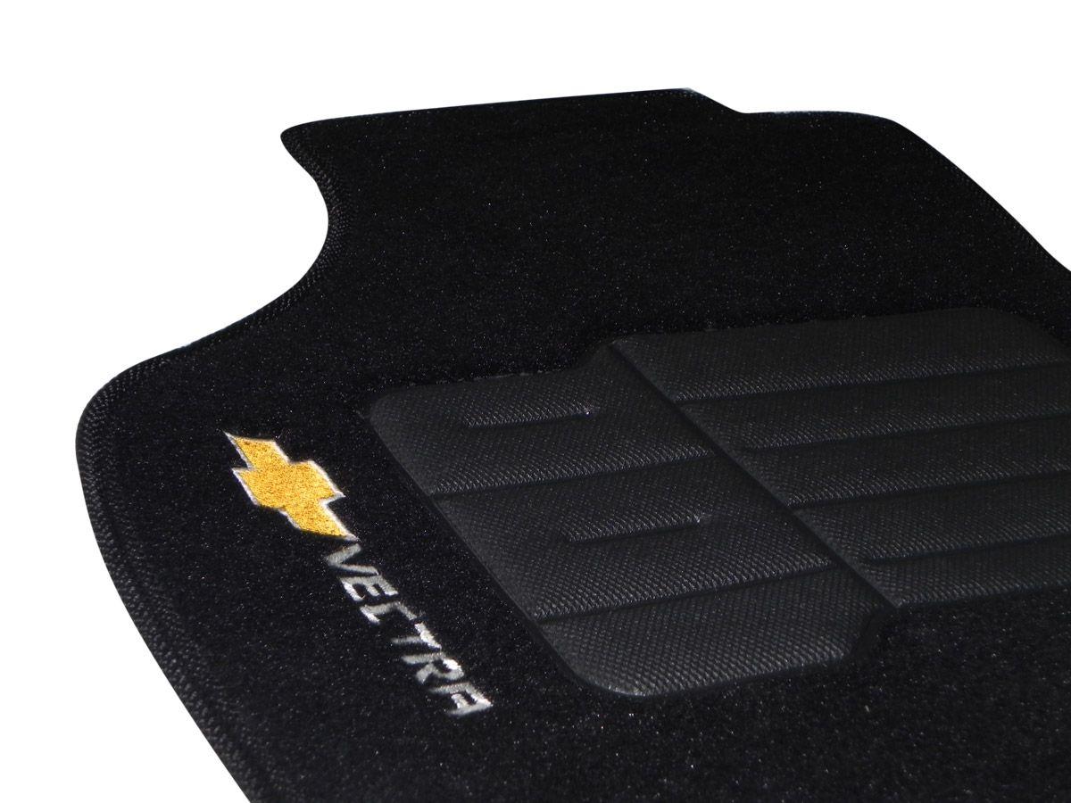 Tapete Carpete GM Vectra 2007 2008 2009 2010 2011 2012 Personalizado com bordado nos dois tapetes dianteiros (5 peças)