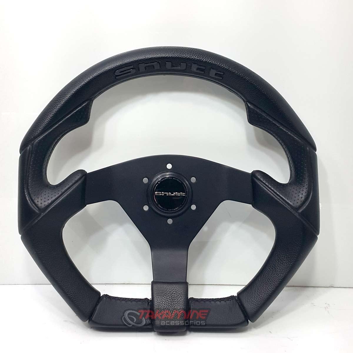 Volante esportivo Shutt S3R centro black com detalhe preto