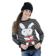 Blusa de tricot coelho