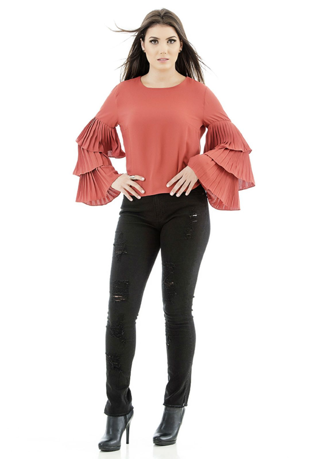 Blusa com babados unique chic