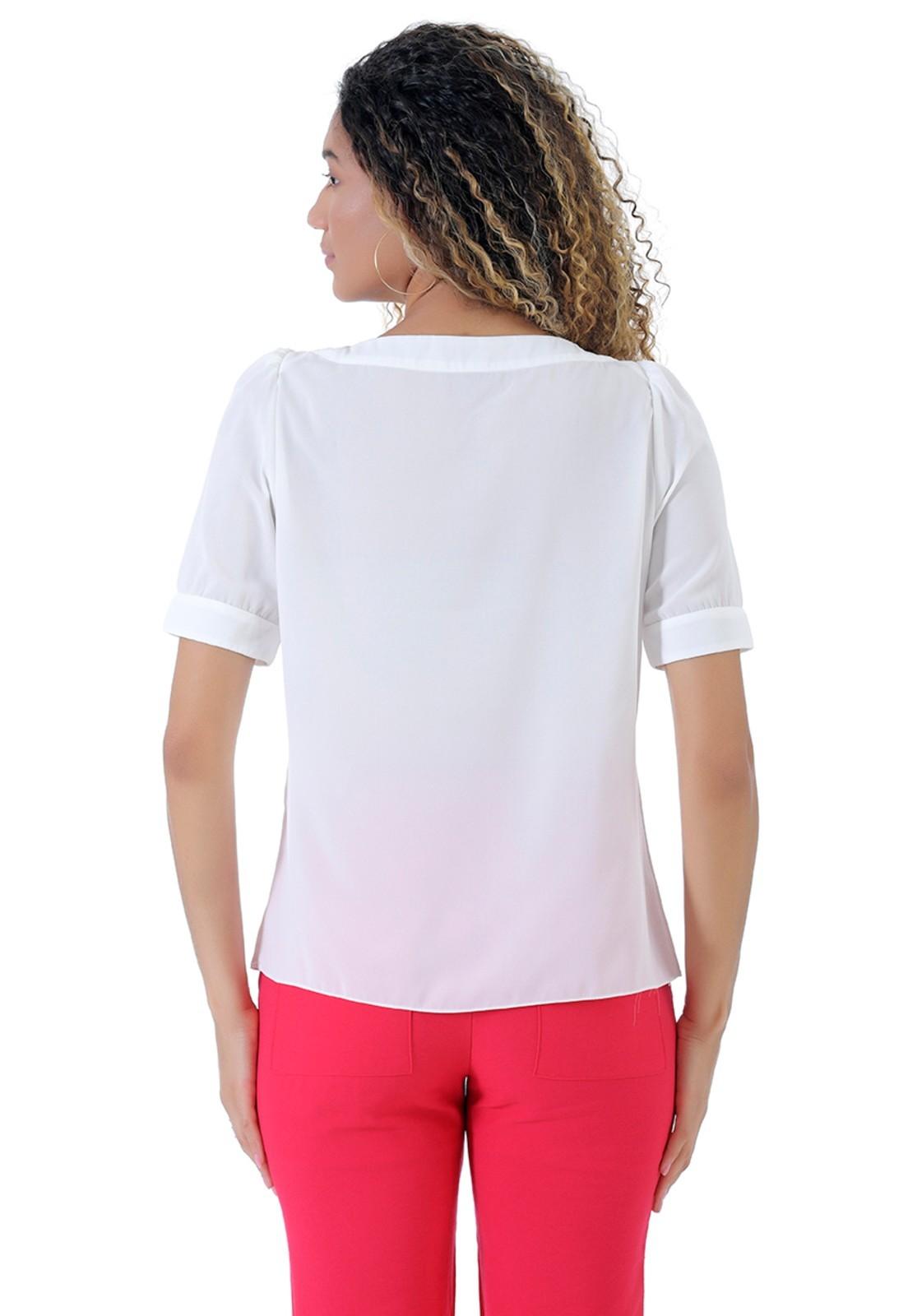 Blusa de crepe básica branca