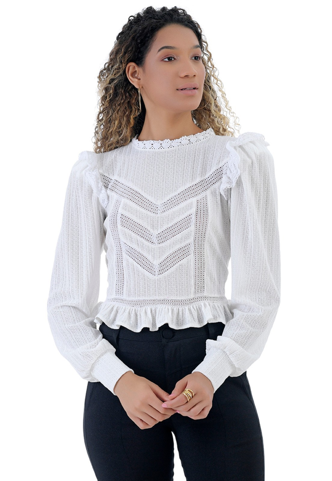 Blusa de malha tricot
