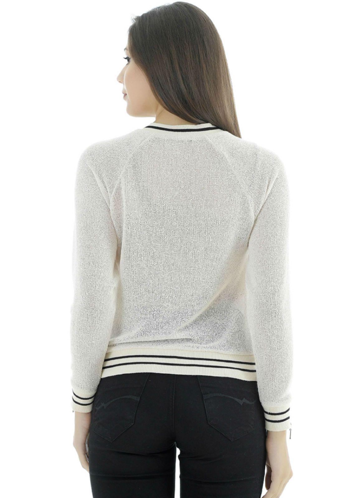 Blusa de tricot manga longa Tuart