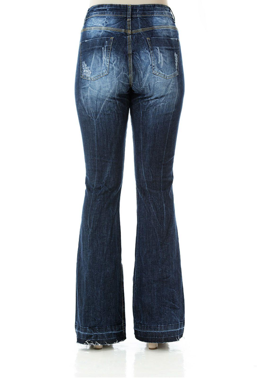 Calça jeans flare