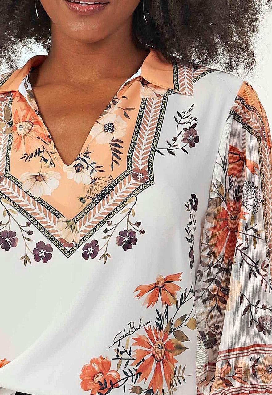 Camisa florida Gatabakana