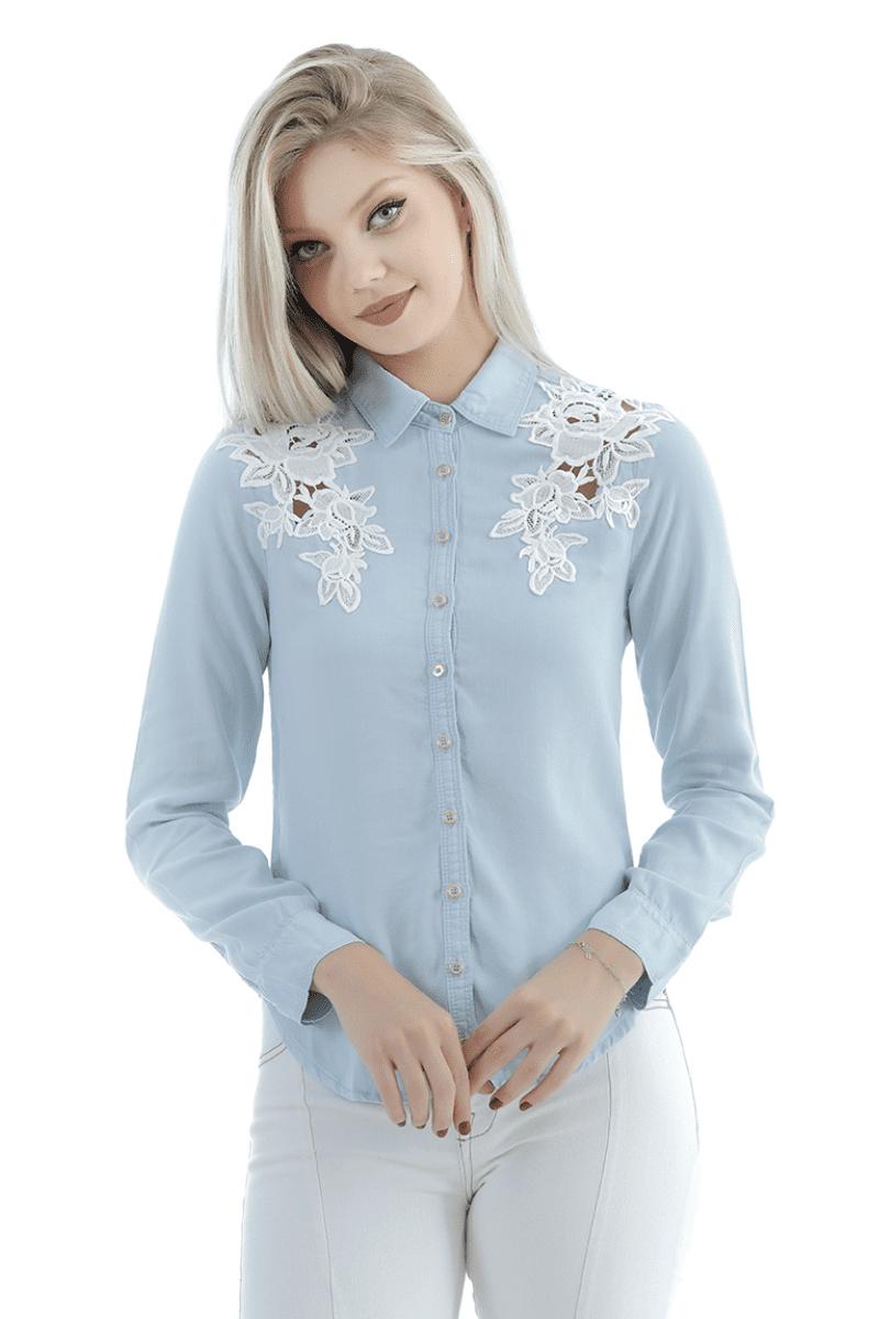 camisa jeans gatabakana