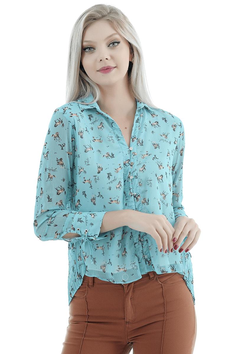 Camisa plissada Gatabakana