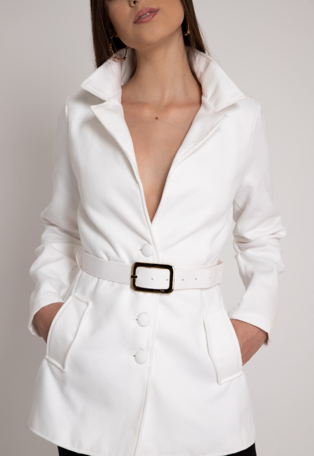 Casaco feminino branco