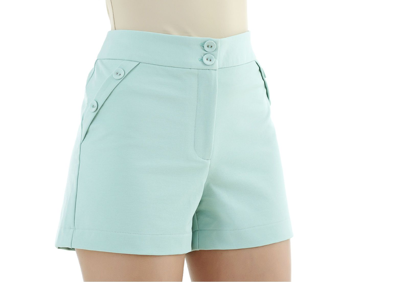 Shorts verde Unique Chic
