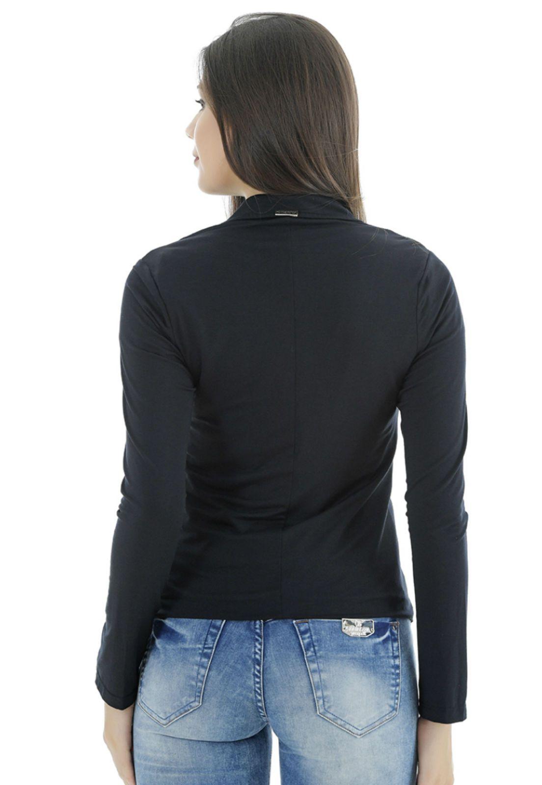 Terninho feminino preto gatabakana