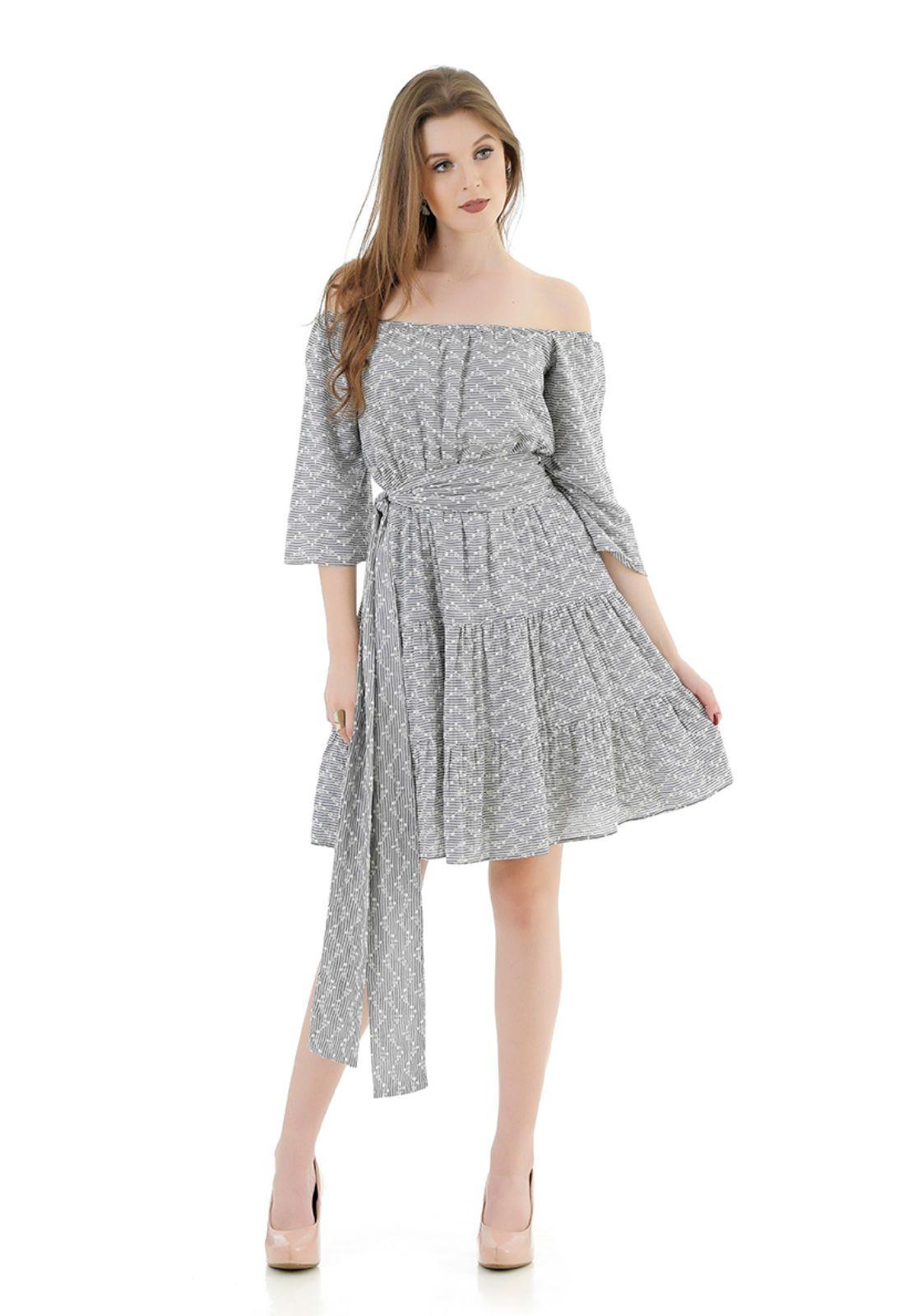 Vestido de cambraia Amissima