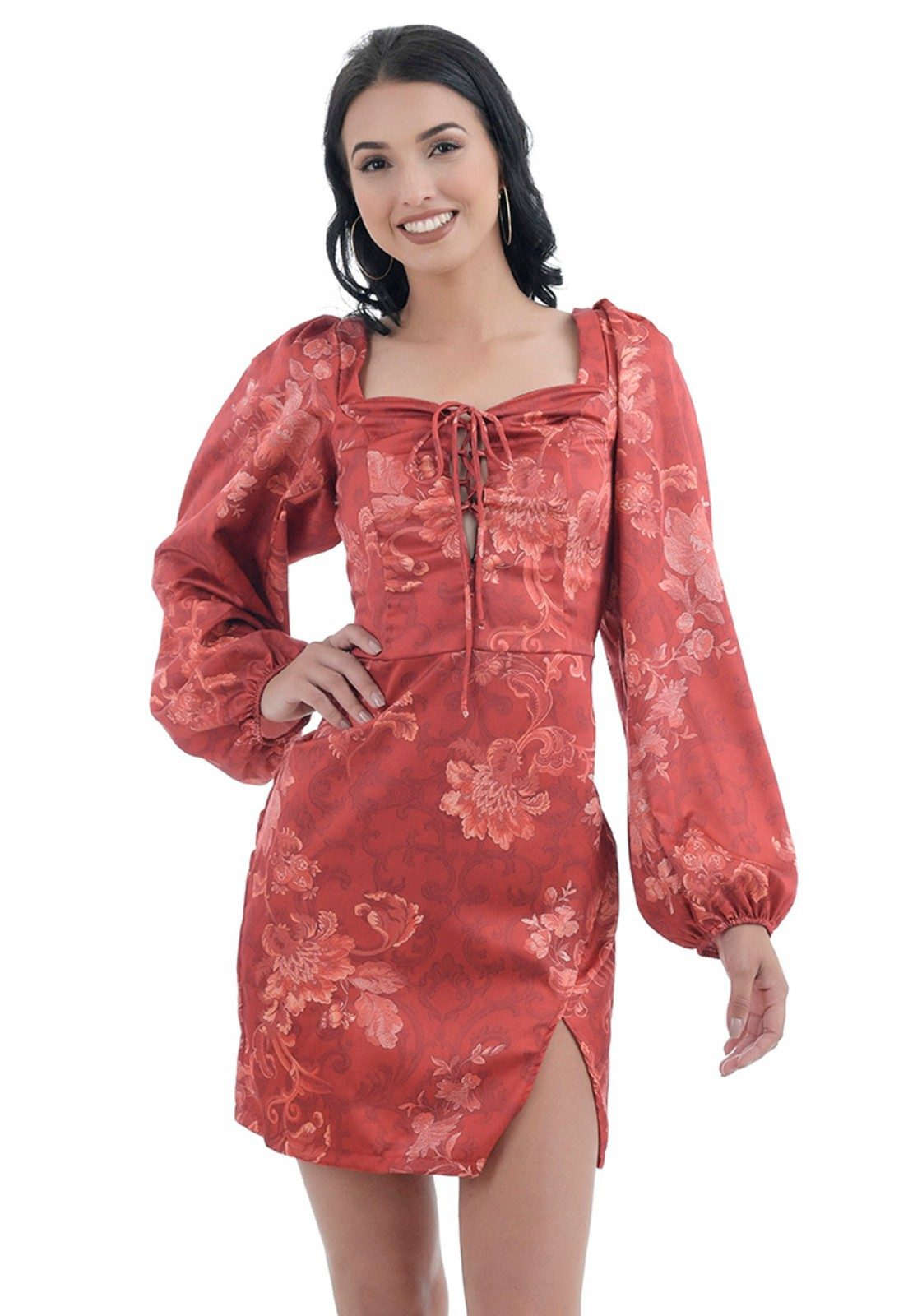 Vestido Justo vermelho