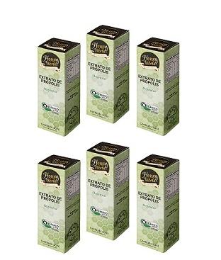 Extrato de Própolis Verde alecrim Orgânico - Kit c/06 unidades