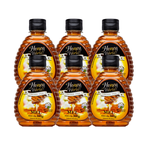 Mel Silvestre 300g Honey World - 6 unidades