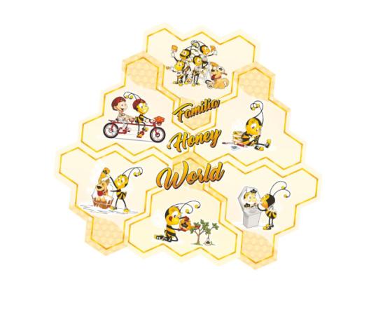 Pirulitos de Mel 75g - 05 pac - Ganhe 01 quebra cabeça Honey World